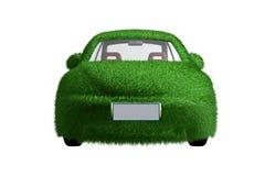 Vorderansicht des umweltfreundlichen Autos Lizenzfreies Stockfoto