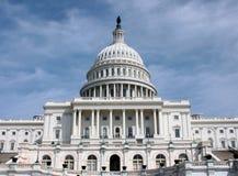 Vorderansicht des US-Kapitol-Gebäudes Stockfoto