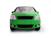 Vorderansicht des vielseitigen grünen Fahrzeugs Stockfotografie