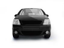 Vorderansicht des vielseitigen schwarzen Fahrzeugs Lizenzfreies Stockfoto