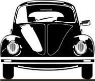 Vorderansicht des VW-Käfers Stockbild