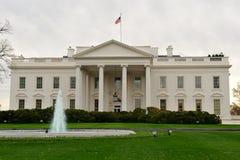 Vorderansicht des Weißen Hauses, Washington, Gleichstrom Lizenzfreies Stockfoto