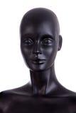 Vorderansicht einer schwarzen Mannequinattrappe Lizenzfreies Stockbild