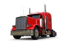 Vorderansicht eines roten LKWs stock abbildung