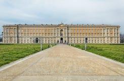 Vorderansicht Royal Palace Caserta Lizenzfreie Stockbilder