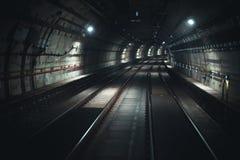 Vorderansicht-U-Bahntunnel in São Paulo stockbilder
