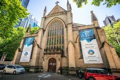 Vorderansicht von St Andrew Kathedrale eine anglikanische Kirche in Sydney NSW Australien stockbild