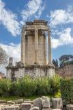 Vorderansicht von Vesta-Tempel lizenzfreie stockbilder