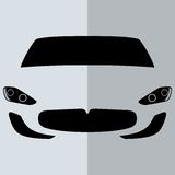 Vorderansicht-Weißauto des Vektors Lizenzfreie Stockbilder