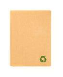 Vordere Abdeckung des Recyclingpapiernotizbuches Lizenzfreie Stockfotografie
