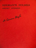 Vordere Abdeckung von gealtert von sherlock holmes Kurzgeschichten stockfoto