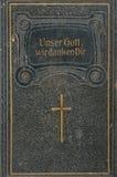 Vordere Abdeckung von Leder-springen deutschen Song-book Stockbild