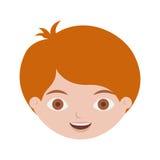 Vordere Gesichtsrothaarige-Kinderfrisur Lizenzfreies Stockbild