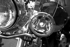 vordere Leuchten des Motorrades Stockfoto