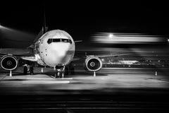 Vordere Nahaufnahme des Flugzeuges Stockbild