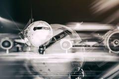 Vordere Nahaufnahme des Flugzeuges Stockbilder