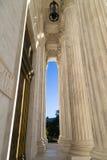 Vordere Terrasse des Obersten Gerichts von U S Stockbild