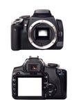 Vordere und hintere Ansicht der Digitalkamera Lizenzfreies Stockbild