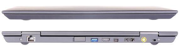 Vordere und hintere Ansicht des Laptops Lizenzfreie Stockfotografie