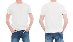 Vordere und hintere Ansichtt-shirt Schablone Stockbild