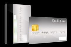 Vordere und hintere Kreditkarteschablone Stockfotografie