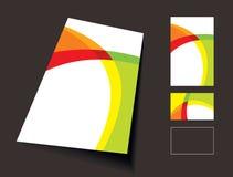 Vordere und rückseitige Visitenkarte Stockfotografie