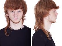 Vordere und Seitenansicht des Gesichtes Lizenzfreie Stockfotografie