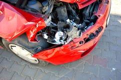 Vorderer Autounfall Stockfotografie