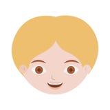 Vorderer Gesichtsmann mit dem blonden Haar Stockfoto
