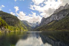 Vorderer Gosausee, Austria. Gosau is a municipality in the district of Gmunden in Upper Austria, Austria and at the southern end is the Vorderer Gosausee, a Royalty Free Stock Photos