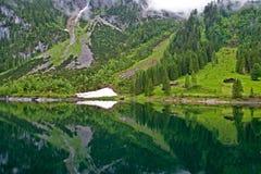 Vorderer Gosausee lake Austria. Vorderer Gosausee lake in Goasau, Austria Royalty Free Stock Photos