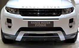 Vorderer Grill von Range Rover-Reihe Evoque Stockbild