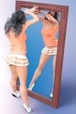Vorderer großer Spiegel der Frau Lizenzfreie Stockbilder
