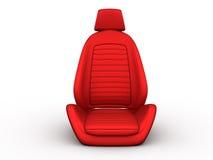 Vorderer roter Autositz stock abbildung