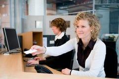 Vorderer Schreibtisch Lizenzfreies Stockfoto