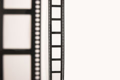Vorderer und rückseitiger Film Stockfotografie
