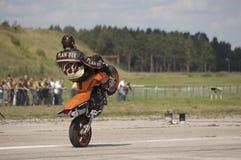Vorderer Wheelie stockfoto