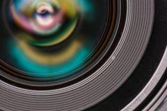Vorderes Element eines Kameraobjektivs Lizenzfreie Stockbilder