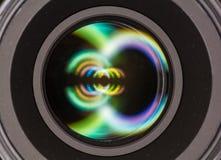 Vorderes Element eines Kameraobjektivs Stockfotografie