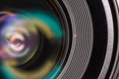 Vorderes Element eines Kameraobjektivs Lizenzfreies Stockbild