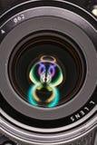 Vorderes Element eines Kameraobjektivs Lizenzfreies Stockfoto