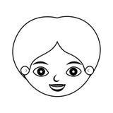 Vorderes Gesichtskinderschattenbildlächeln Lizenzfreie Abbildung