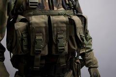 Vorderes lbv Taschen des Soldaten Stockbilder