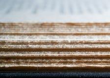 Vorderrand von ein offenes Buch Lizenzfreie Stockbilder