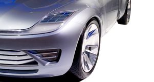 Vorderseite 2 des futuristischen Autos lizenzfreies stockfoto