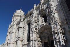 Vorderseite von JerÃ-³ nimos Kloster, Portugal Lizenzfreies Stockfoto