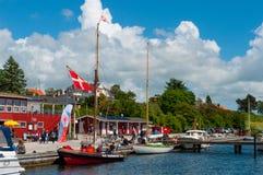 Vordingborg Danimarca - giugno 2017: Giorno festivo in Vordingborg Denm Fotografie Stock Libere da Diritti