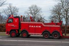 Red Danish Falck Wrecker truck Royalty Free Stock Photo