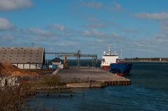 Vordingborg industrial harbor in Denmark Royalty Free Stock Photography