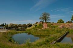 Vordingborg-Schlossruinen mit Burggraben Stockfotografie